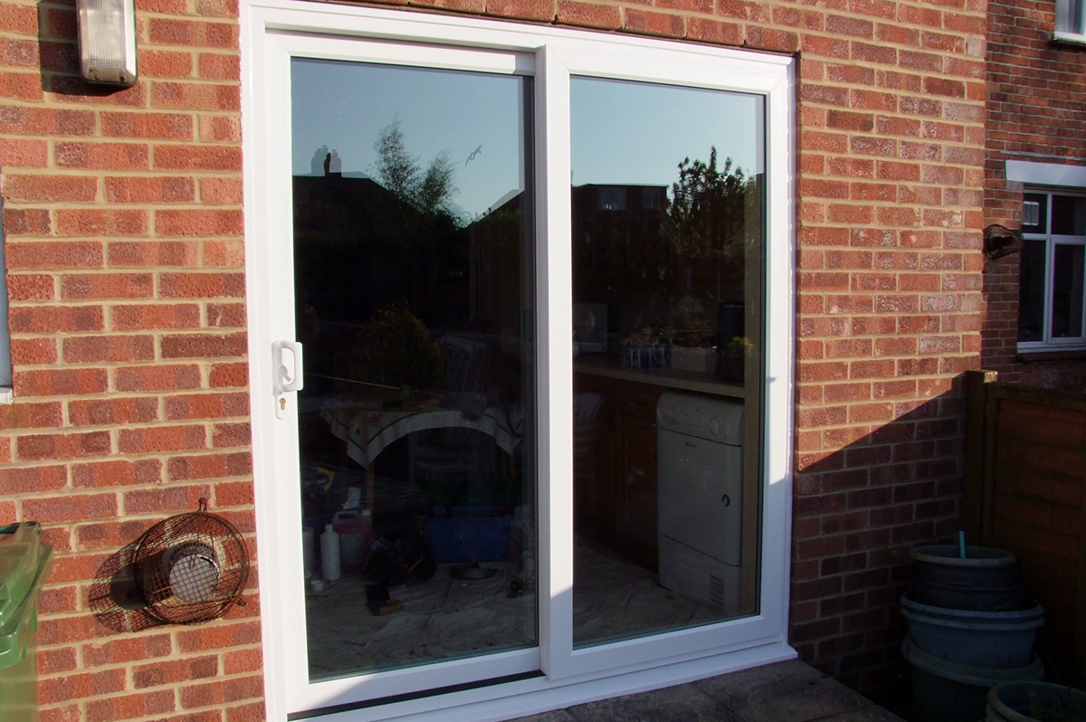 Patio doors replacement replacement patio doors in fort for Patio window replacement